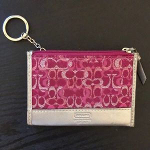 Pink Coach Coin Purse/Cardholder